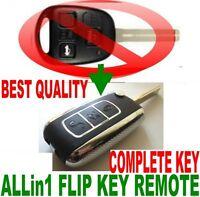 BENTLY STYLE FLIP KEY REMOTE FOR RX330 350 KEYLESS ENTRY FOB CHIP TRANSPONDER