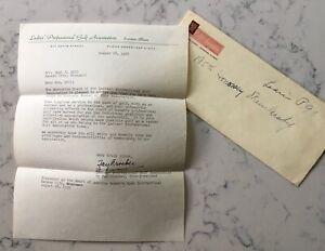 OPAL S. HILL 1955 LADIES PGA GOLF ASSOCIATION MEMBER LETTER FAY CROCKER LPGA