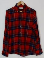 Barbour Gents Finley Cotton Tailored Fit Shirt Small Orange Check Used