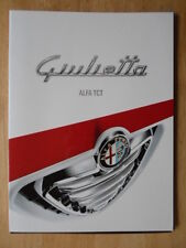 ALFA ROMEO GIULIETTA TCT ORIG 2011 UK inchiostri LUCIDO SALES BROCHURE
