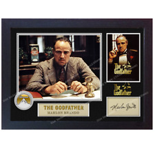 THE GODFATHER SIGNED MARLON BRANDO autograph poster print photo Framed