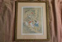Cadre chinois et son contenu de scènes animées fin XIXème