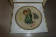Mint In Box Goebel M.J. Hummel 1971 Annual Plate Bas Relief Christmas Boy