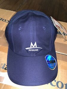 MISSION Performance Cooling Hat Navy New with Tags NEW Men's Women's Patch Hat