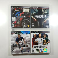 Lot of 4 PS3 Games | Fifa 12, Fifa 13, Call of Duty Black OPS, Gran Turismo 5 3D