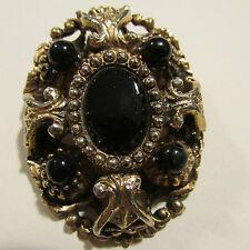 Rhinestone Mixed Metals Vintage & Antique Jewellery