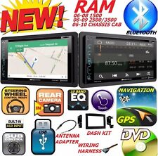 06 07 08 09 10 DODGE RAM DVD GPS NAVIGATION SYSTEM BLUETOOTH BT CAR STEREO RADIO