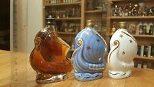 Set 3 LARSEN - Ceramic and glass bottles, minibottles, miniatures, Mignonnettes
