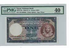 EGYPT 1 pound 1940-45 Pick# 22c PMG: 40 XF. (#1801)