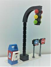 Lego Moc City Town Village Street Road Traffic Light Stop Sign Bus Stop Post Box