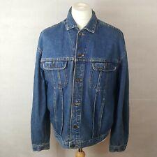 Lee New Rider Jacket Mens Denim Jacket Blue Size L Cotton Buttoned Pockets