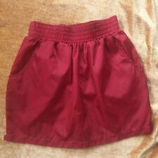 American Apparel NWT  Red Elastic Waist Pockets Micro -Fiber Tulip Skirt Sz S