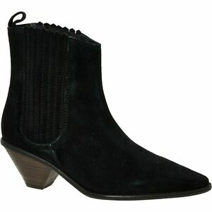 JIGSAW Women's CAMILA Black Suede Leather Western Boots, UK 3 / EU 36 RRP £150