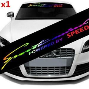 Laser Reflective Letter Windshield Banner Strip Racing Sticker Front Rear Window