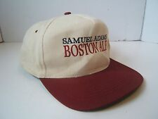 Samuel Adams Boston Ale Hat Distressed Burgundy Off White Snapback Baseball Cap