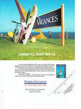 Publicité Advertising 088  1991   location Hotelière Pierre & Vacances