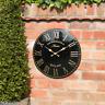 Large 38cm Black Gold Outdoor Indoor Garden Wall Clock Hand Painted church clock