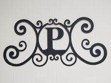 Iron Letter P Monogram Door Wall Decoration Plaque Metal Art Initial 2mm thick