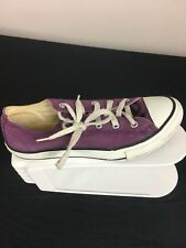 b99f03537099 Anuncio nuevoConverse All Star jóvenes Niña Talla 3 púrpura y blanco Low  Top Con Cordones 310096F