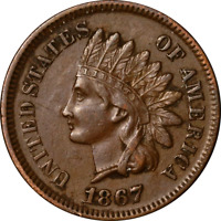 1867 Indian Cent Choice XF+ Superb Eye Appeal Strong Strike