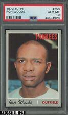 1970 Topps #253 Ron Woods New York Yankees PSA 10 GEM MINT