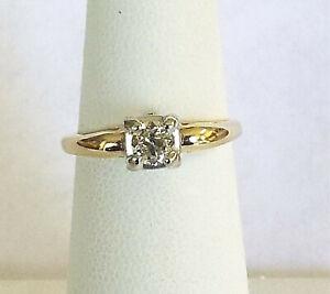 Estate Diamond Solitaire Engagement Ring, 0.25 carat,  size 6, Circa 1950