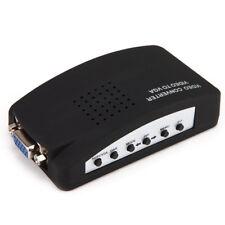 RCA VGA Composite AV S-Video to VGA Converter Adapter Box for HDTV DVD Monitor