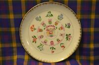 Vintage Gold Edged Plate of CANADA'S Provinces/Flower Emblems&Coat of Arms-Japan