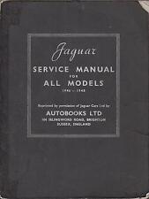 Jaguar MKIV MK4 1.5 2.5 & 3.5 L Berline & DHC 1946-48 Factory Workshop Manual