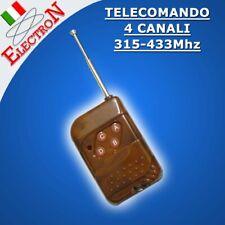 TELECOMANDO 4CH CANALI 315Mhz o 433MHz Radiocomando Generico APRICANCELLO