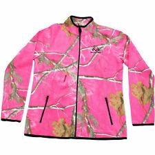 Realtree Women's Fleece Camo Full Zip Jacket AP Hot Pink SIZE L --CQ7--