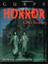 GURPS-horror GM 's Screen-RPG-Steve Jackson Games-very rare