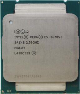 Uesd Intel Xeon CPU  E5-2670V3 SR1XS X99 2.30GHZ 30M 12-CORES processor CPU