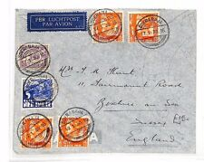 BF195 1936 DUTCH EAST INDIES Soerabaja GB Bexhill-on-Sea Airmail Cover