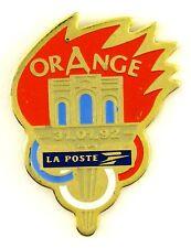 PINS SPORT FLAMME JO JEUX OLYMPIQUES 1992 VILLE DE ORANGE ( VAUCLUSE )