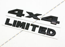 3D MATT BLACK 4 X 4 LIMITED LETTER LOGO SET BADGE OFFROAD TAILGATE LIFTGATE DOOR