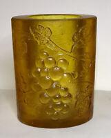 Mid Century Modern Resin Candle Holder - Vase By SASCHA BRASTOFF Yellow Gold VTG