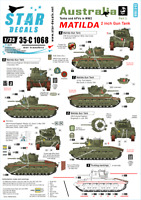 1/35 Decals for Australian Tanks and AFVs #3: Matilda 2inch Gun Tank in the PTO