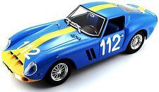 "Bburago 26305 FERRARI 250 GTO Azul ""112"" Escala 1:24 Coche a escala ¡NUEVO! °"