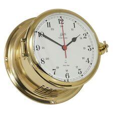 Schatz Uhren Bootsport Maritim Royal Glasenuhr arabisch Messing Royal 180mm