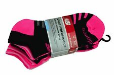 NEW BALANCE Core Performance Socks 6 Pairs Pink & Black No Show Ladies Socks