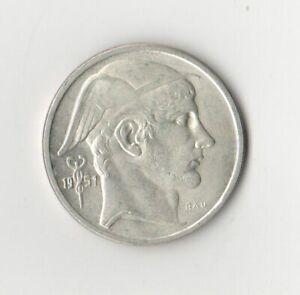 High Grade Belgium 1951 Silver 50 Francs Coin