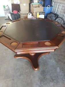 6 piece, real Cherry Wood, Hillsdale Furniture Poker/Gaming Table