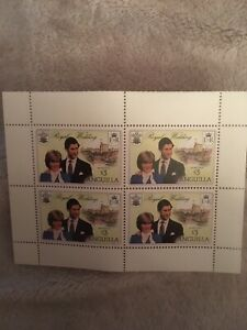 Anguilla Charles and Diana Royal Wedding $3*4 booklet pane Mint Unhinged