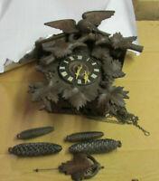 Antique 1900's American Clock Co. Cuckoo Eagle topper vintage for restoration
