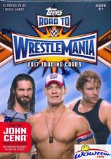 2017 Topps WWE Road to Wrestlemania EXCLUSIVE Factory Sealed Blaster Box-RELIC !