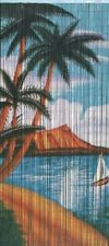 Waikiki Beaded Curtain Bamboo Home Decor Panel Doorway Window Dividers Wall Arts