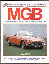 MGB avec info sur MGB V8 & MGC GUIDE D'ACHAT & bricolage restauration par porter