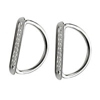 2PCS Weight Belt Keeper Stainless Steel Retainer w/ D-Ring Scuba Diving Dive