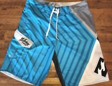 Billabong Andy Irons Signature Board Shorts Swim Trunks Size 33 Blue Gray Black